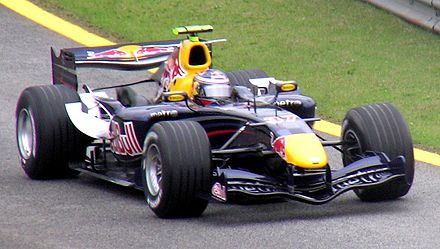 Ammermuller as the Red Bull Racing Formula One team's third driver at the 2006 Brazilian Grand Prix. Michael Ammermuller 2006 Brazil.jpg