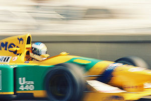 Michael Schumacher driving for Benetton Formul...