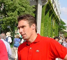 Michael Stich ako komentátor na French Open 2003