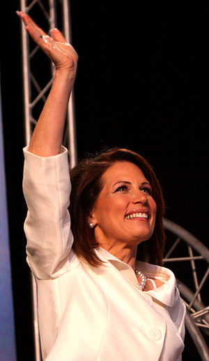 United States presidential election in Iowa, 2012 - Michele Bachmann speaking at the Ames Straw Poll on August 13, 2011.