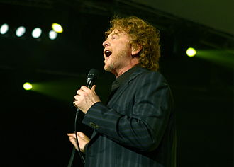 Simply Red - Lead singer Mick Hucknall of Simply Red
