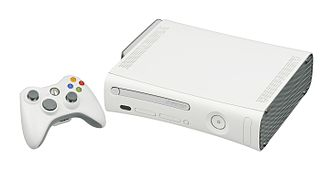 Seventh generation of video game consoles - The Xbox 360 Pro console and controller.