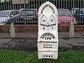 Mile marker in Bridgend (Outside Police HQ) - geograph.org.uk - 286435.jpg
