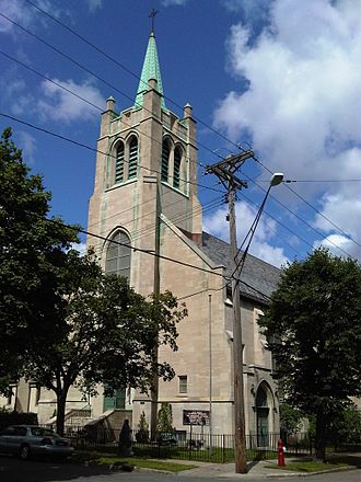 Norwegian Lutheran Memorial Church (Minneapolis) - Image: Mindekirken Outside View From SE