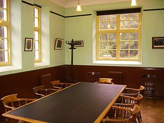 Miners' institute - Interior of the Oakdale Institute at St Fagans National History Museum