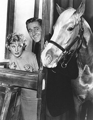 Mister Ed - Connie Hines and Alan Young in TV's Mister Ed