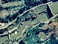 Miyashita Dam and Miyashita hydroelectric power station 1976.jpg