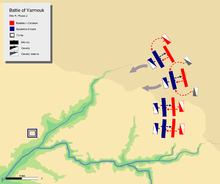 day 4 phase 2, showing khalid's flanking attack on Byzantine left center with his mobile guard.