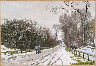 Road toward the Farm Saint-Siméon, Honfleur