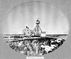Monomoy Point Light - Monomoy Lighthouse circa 1865