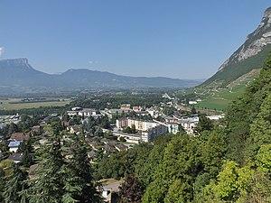Battle of Saint-Julien (1814) - View from Montmélian toward Chambéry