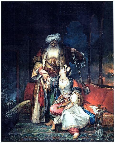 File:Monvoisin, Raymond - Ali Pacha y Vasiliki -1832 ost 345x272 PalCous 1.jpg