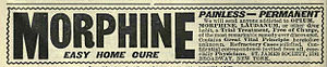 Advertisement for curing morphine addictions f...