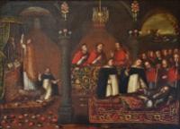 Morte do Príncipe D. Afonso, filho de D. João II, na Ribeira de Santarém em 1491 (séc. XVIII), Palácio Nacional de Sintra.png