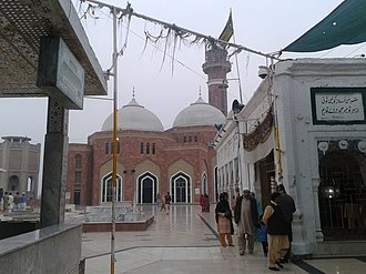 Shrine of Baba Farid - The shrine complex includes a large mosque.