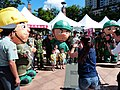 Mother Photographing Children with Mascot of ROCA Drive Solider 20140906.jpg