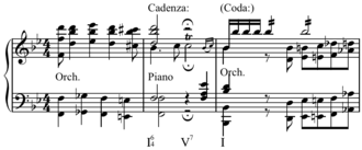 Cadenza - Image: Mozart Piano Concert in Bb major K. 595, first movement, cadenza