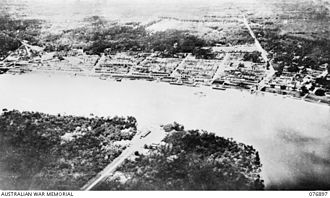 Muar (town) - The Muar Ferry Crossing, in the Battle of Muar, where the 45th Indian Brigade was disposed along 24 miles of river front with four companies of infantry north of the river and the remainder positioned south of the river, to cover the main coast road at Muar against the advance of the Imperial Guards Division.