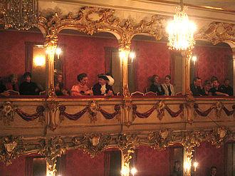Giovanni Battista Ferrandini - Interior of the Old Residenztheater, now Cuvilliés Theatre, which opened with Ferrandini's opera Catone in Utica in 1753
