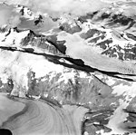 Muir and Cushing Glaciers, tidewater glacier and firn line, September 18, 1972 (GLACIERS 5714).jpg