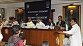 Mukul Roy addressing at a felicitation ceremony for the sports persons belonging to Indian Railways for their remarkable performance in the London Olympics-2012, in New Delhi. The Ministers of State for Railways.jpg