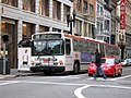 Muni route 38 Geary bus at Stockton Street, January 2010.jpg