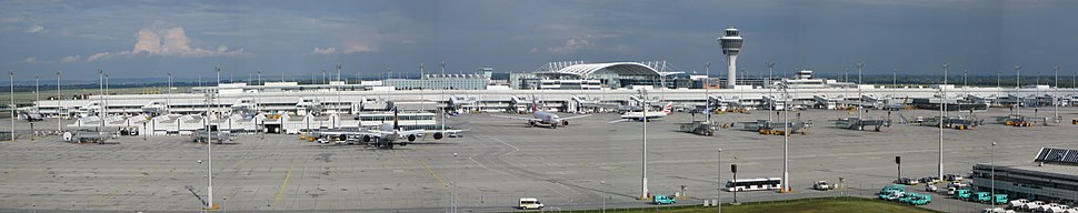 View of the main apron in front of Terminal 1