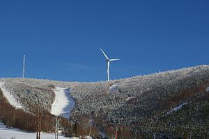 Murdochville, Quebec - Ski hill, looking north from Murdochville