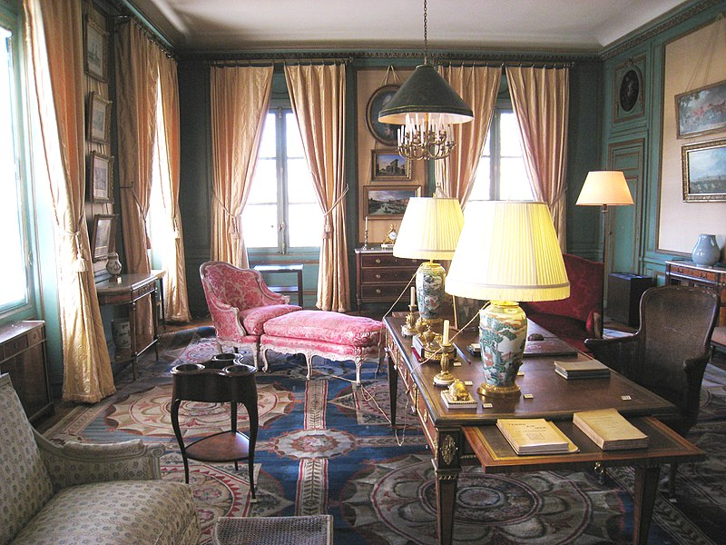 File mus e nissim de camondo salon bleu jpg wikimedia for Decoration salon francais