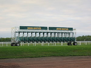Horseracing in Scotland - Starting stalls at Musselburgh Racecourse