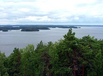 Kangasala - Lake Roine seen from Vehoniemi ridge