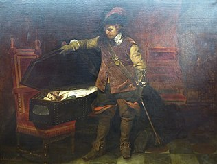 Cromwell discovering the coffin of Charles I