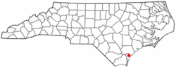 Location of Murraysville, North Carolina