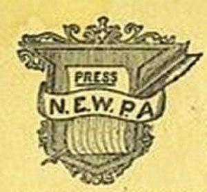 New England Woman's Press Association - NEWPA logo circa 1901.