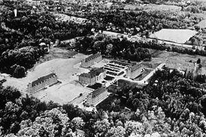 National Institutes of Health campus - Aerial view of the NIH campus in 1940