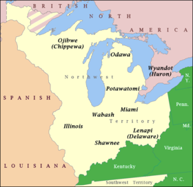 Map Of America In 1812.Indian Barrier State Wikipedia