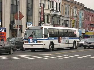 Flatbush Avenue Line (surface) - A B41 Flatbush Avenue bus in Limited-Stop service.