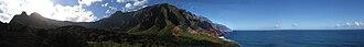 Kalalau Trail - Image: Na pali panorama