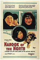 Robert J. Flaherty, Nanook of the North, 1922 silent documentary was considered one of the ultimate examples of pure cinema