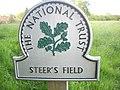 National Trust sign, Steer's Field.jpg