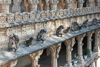 Gondal, India - Detail of Naulakha Palace