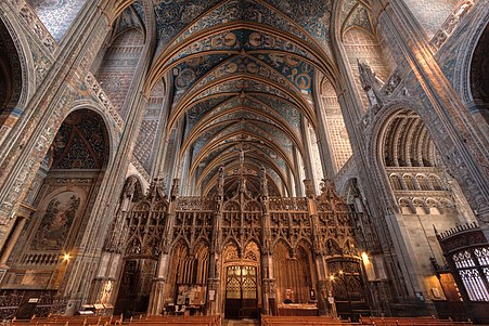 Nave and Ceiling of the Cathedral Ste Cécile in Albi, France