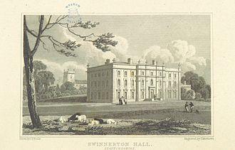 Swynnerton Hall - Swynnerton Hall in 1818