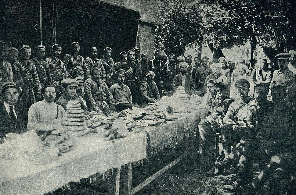 Negotiations with basmachs Fergana, 1921