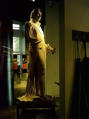 Centre d'histoire de Montréal - The original sculpture of Admiral Horatio Nelson, 1st Viscount Nelson, that was located atop of Nelson's Column on Place Jacques-Cartier.