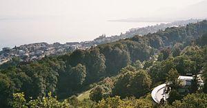 Friedrich Dürrenmatt - View above the Centre Dürrenmatt at the Lake Neuchâtel.