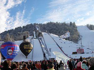Große Olympiaschanze - Image: Neujahrsskispringen 2008