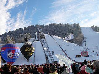 Große Olympiaschanze ski jumping hill in Garmisch-Partenkirchen, Germany