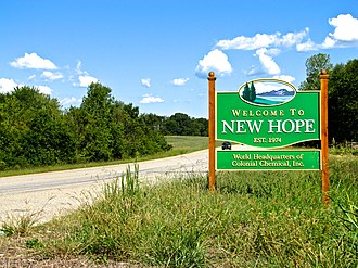 New Hope, Tennessee - Image: New Hope welcome sign TN156 tn 1