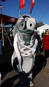 The New Balance mascot, Newbie, at the Head of the Charles Regatta in October of 2013.